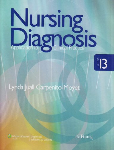 Nursing Diagnosis Application to Clinical Practice 13th 2009 (Revised) edition cover