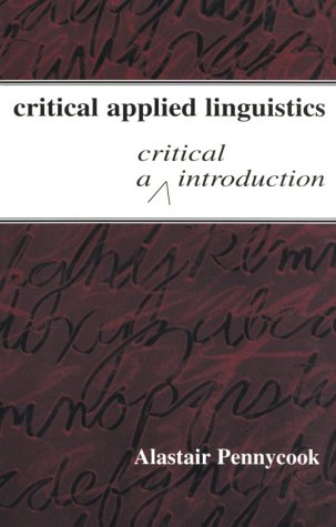 Critical Applied Linguistics A Critical Introduction  2001 edition cover
