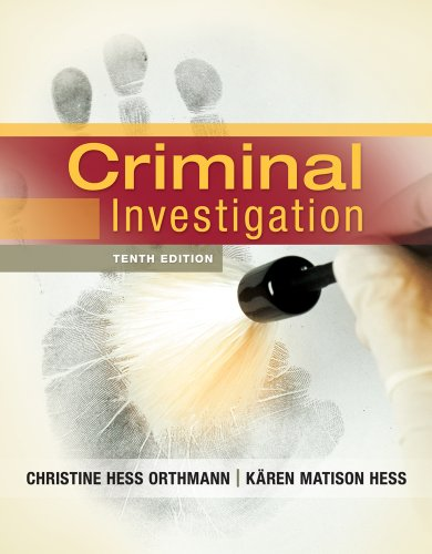 Criminal Investigation  10th 2013 edition cover