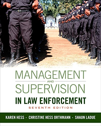 Management and Supervision in Law Enforcement:   2015 edition cover