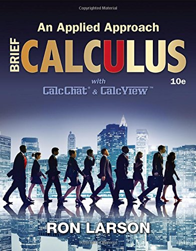 Brief Calculus: An Applied Approach 10th 2016 9781305860926 Front Cover