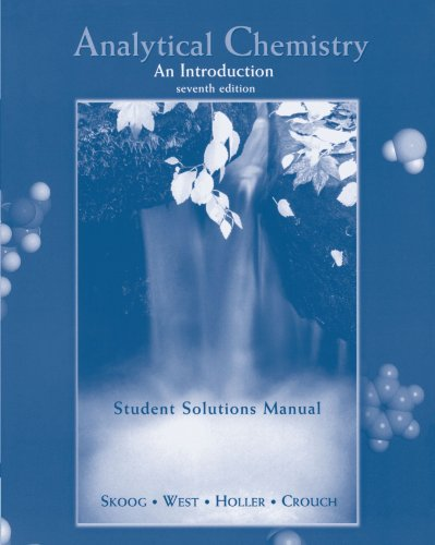 Analytical Chemistry An Introduction 7th 2000 edition cover