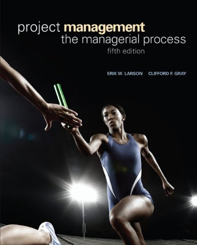 Project Management The Managerial Process 5th 2011 edition cover