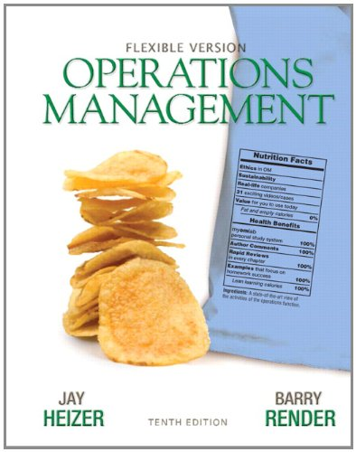 Operations Management Flexible Version  10th 2012 (Revised) edition cover