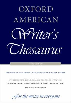 Oxford American Writer's Thesaurus  3rd edition cover