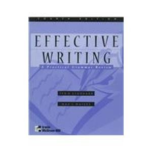 Effective Writing: A Practical Grammar Review 4th 1998 edition cover