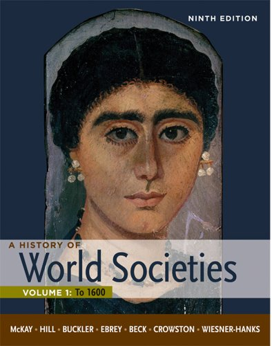 History of World Societies - To 1600  9th 2012 edition cover