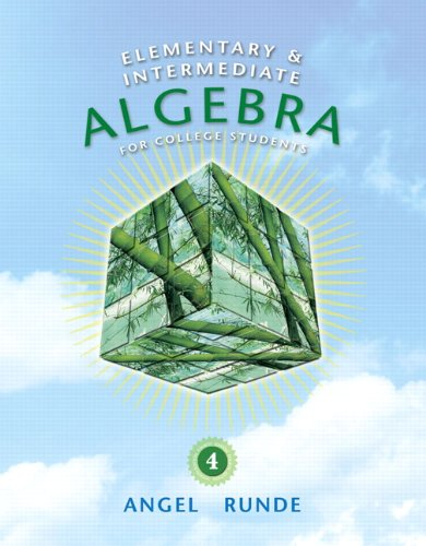Elementary and Intermediate Algebra for College Students  4th 2011 edition cover