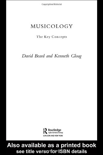 Musicology The Key Concepts  2005 edition cover