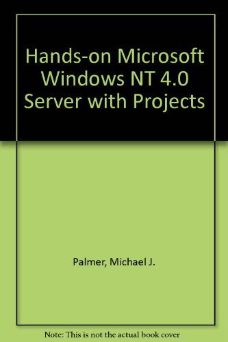 Hands-On MS Windows NT4 Server with Projects-Disktranscender  N/A 9780760050927 Front Cover