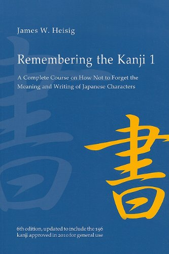 Remembering the Kanji 1 A Complete Course on How Not to Forget the Meaning and Writing of Japanese Characters 6th 2011 edition cover