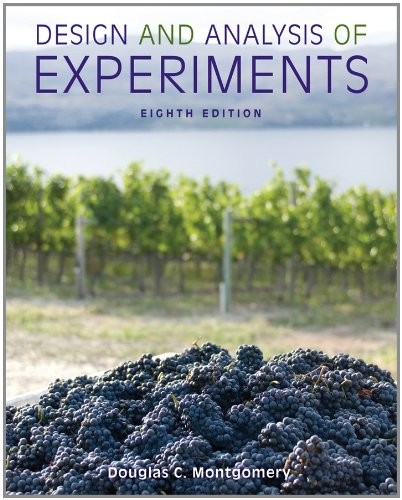 Design and Analysis of Experiments  8th 2013 edition cover