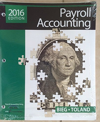 Payroll Accounting 2016  26th 2016 9781305665927 Front Cover