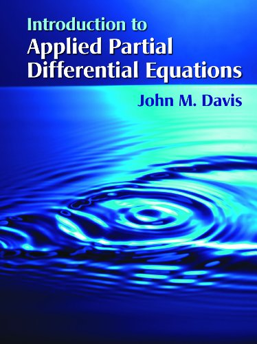 Introduction to Applied Partial Differential Equations   2013 edition cover