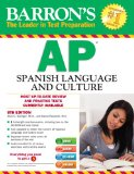 Barron's AP Spanish with MP3 CD and CD-ROM, 8th Edition  8th 2014 (Revised) edition cover