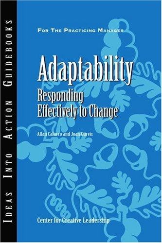 Adaptability Responding Effectively to Change  2007 edition cover