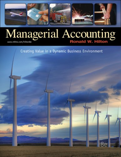 Managerial Accounting Creating Value in a Dynamic Business Environment 8th 2009 edition cover