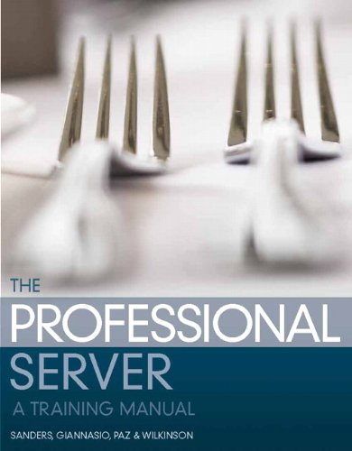 Professional Server A Training Manual 2nd 2013 (Revised) edition cover