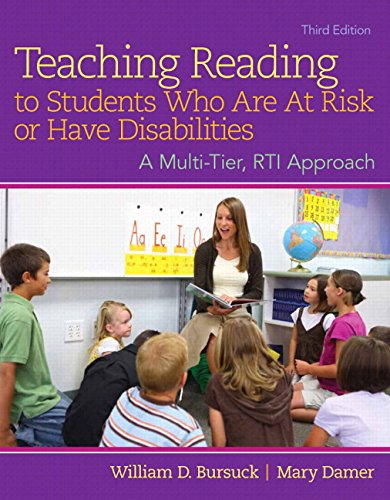 Teaching Reading to Students Who Are at Risk or Have Disabilities A Multi-Tier, RTI Approach 3rd 2015 edition cover