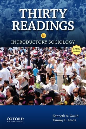 Thirty Readings in Introductory Sociology   2012 edition cover