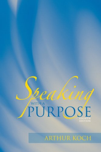 Speaking with a Purpose  8th 2010 edition cover