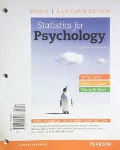 Statistics for Psychology, Books a la Carte Edition  6th 2013 edition cover
