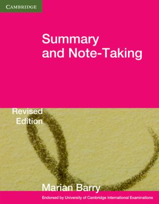 Summary and Note-Taking   2010 9780521140928 Front Cover
