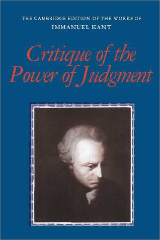 Critique of the Power of Judgment   2001 edition cover