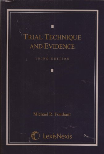 TRIAL TECHNIQUE+EVIDENCE N/A edition cover