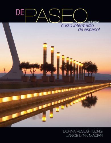 De Paseo Curso Intermedio de Espa�ol 4th 2010 edition cover