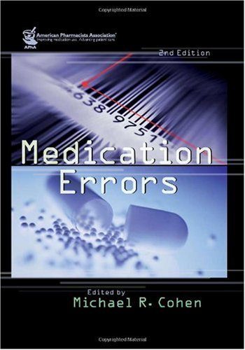 Medication Errors  2nd 2007 edition cover