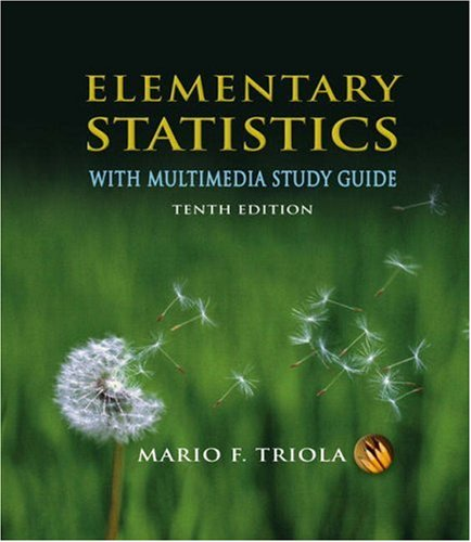 Elementary Statistics  10th 2008 (Student Manual, Study Guide, etc.) edition cover