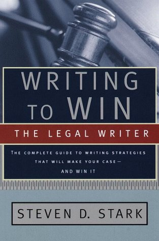 Writing to Win The Legal Writer  1999 edition cover