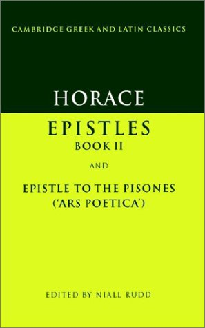 Horace Epistles Book II and Ars Poetica  1989 9780521312929 Front Cover