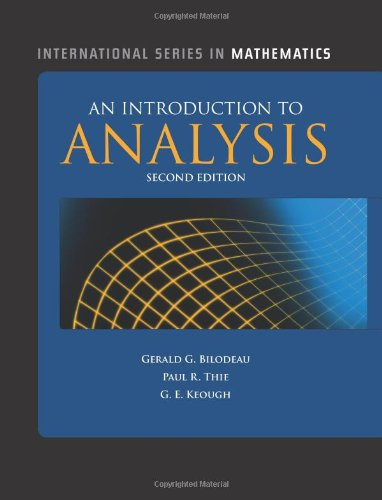 Introduction to Analysis  2nd 2010 (Revised) edition cover