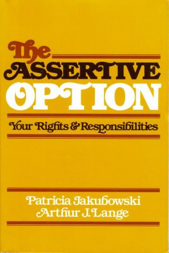 Assertive Option Your Rights and Responsibilities  1981 edition cover