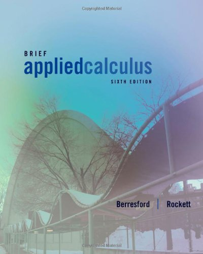 Applied Calculus, Brief  6th 2013 edition cover