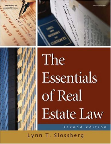 Essentials of Real Estate Law for Paralegals  2nd 2008 (Revised) edition cover