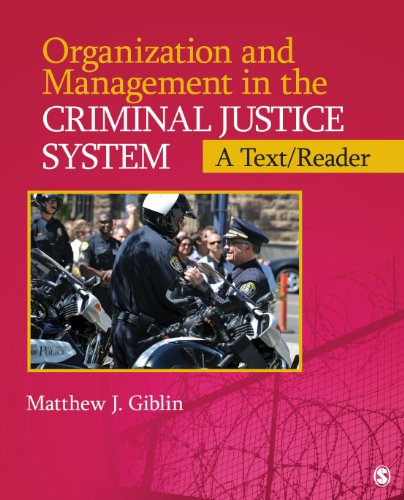 Organization and Management in the Criminal Justice System A Text/Reader  2014 edition cover