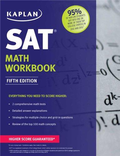 Kaplan SAT Math Workbook  5th edition cover
