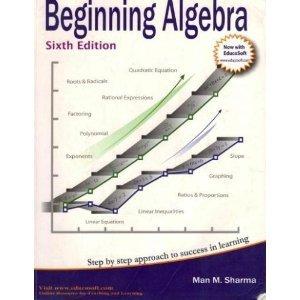 BEGINNING ALGEBRA-W/CD 6th 2007 edition cover
