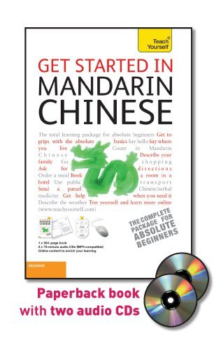 Get Started in Mandarin Chinese  5th 2011 9780071749930 Front Cover