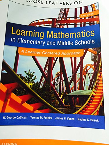 Elementary and Middle School Mathematics: Teaching Developmentally 9th 2016 edition cover
