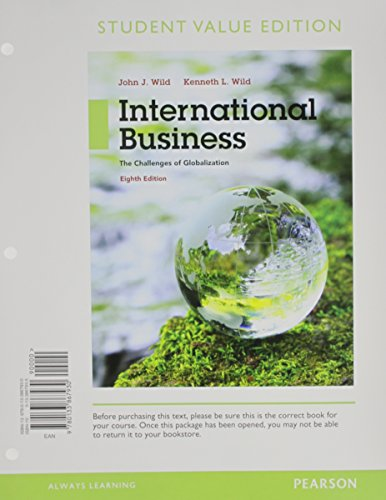 International Business: The Challenges of Globalization, Student Value Edition  2015 edition cover