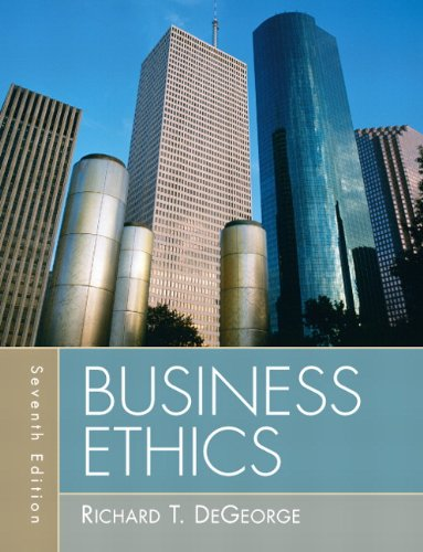 Business Ethics  7th 2010 edition cover