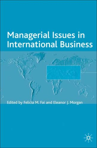 Managerial Issues in International Business   2006 9780230001930 Front Cover