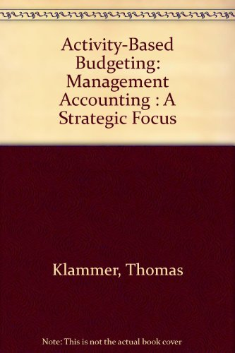 Activity Based Budgeting The Annual Profit and Cash Budget  1998 9780256263930 Front Cover
