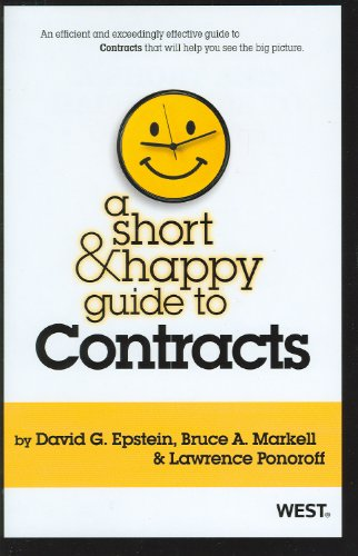 Short and Happy Guide to Contracts   2012 edition cover