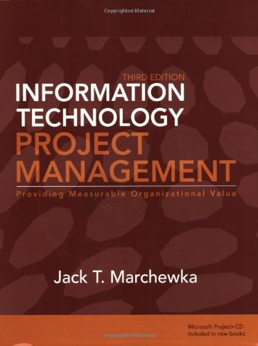 Information Technology Project Management  3rd 2009 edition cover