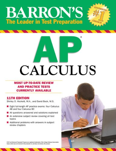 Barron's AP Calculus, 11th Edition  11th 2012 (Revised) edition cover